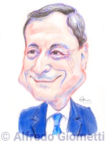 Mario Draghi caricatura caricature portrait