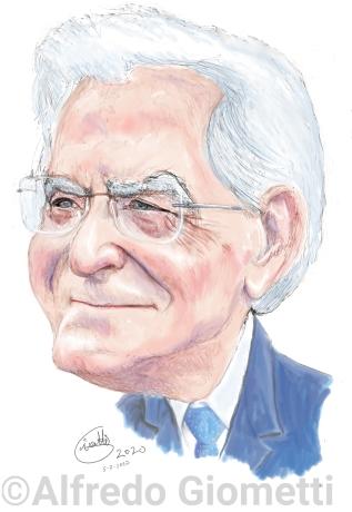 Sergio Mattarella caricatura caricature portrait