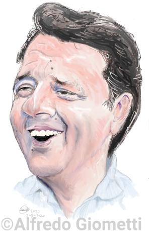 Matteo Renzi caricatura caricature portrait