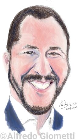 Matteo Salvinii caricatura caricature portrait