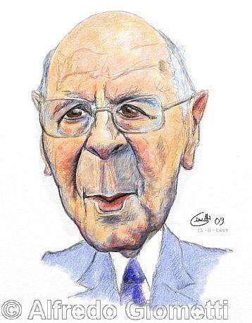 Giorgio Napolitano caricatura caricature portrait