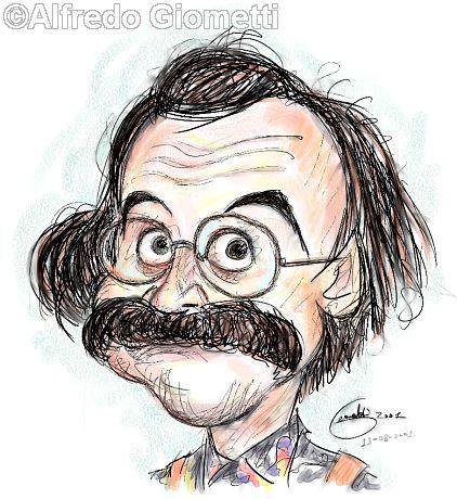 Maurizio Nichetti caricatura caricature portrait