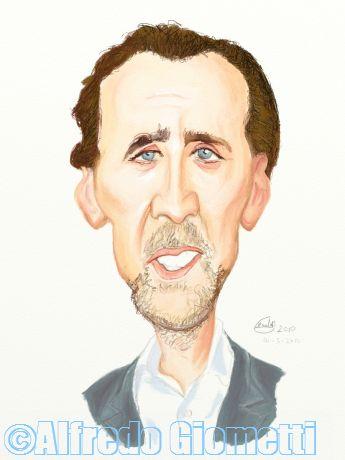 Nicolas Cage caricatura caricature portrait