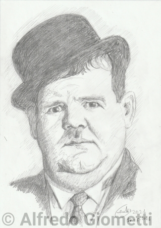 Oliver Hardy - Ollio - ritratto portrait