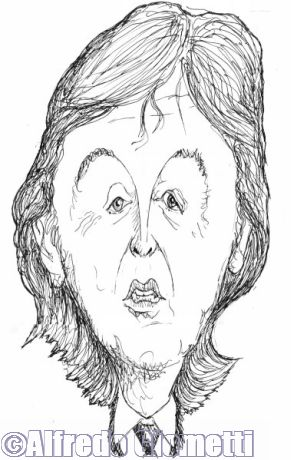 Paul McCartney caricatura caricature portrait