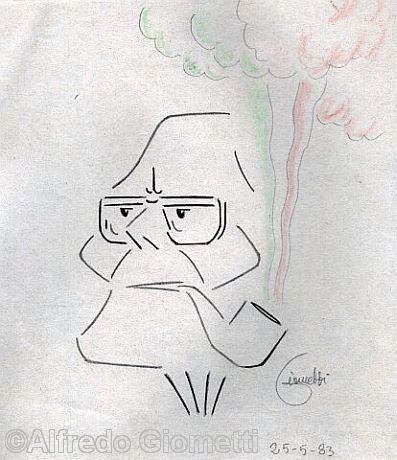 Sandro Pertini caricatura caricature portrait