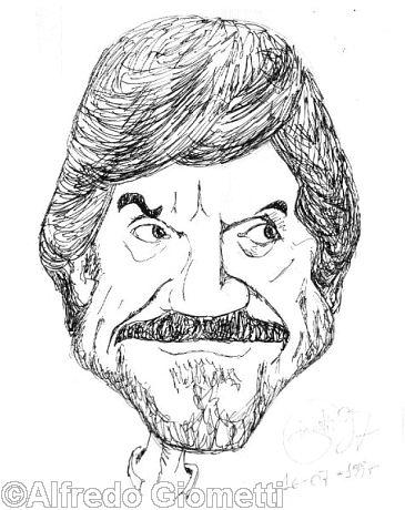 Gigi Proietti caricatura caricature portrait