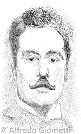 Giacomo Puccini caricatura caricature portrait