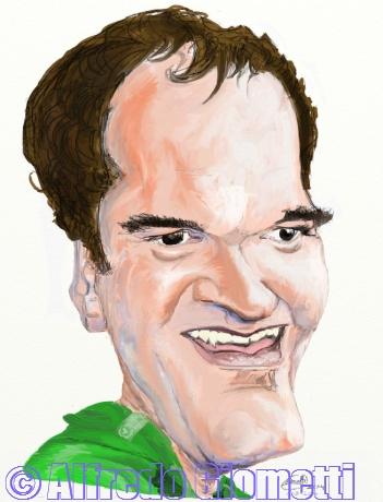 Quentin Tarantino caricatura caricature portrait