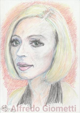 Raffaella Carra ritratto portrait