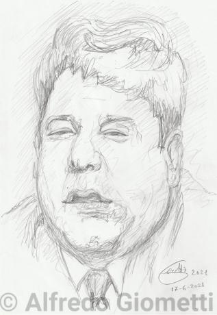 Fracchia - Paolo Villaggioi portrait ritratto portrait