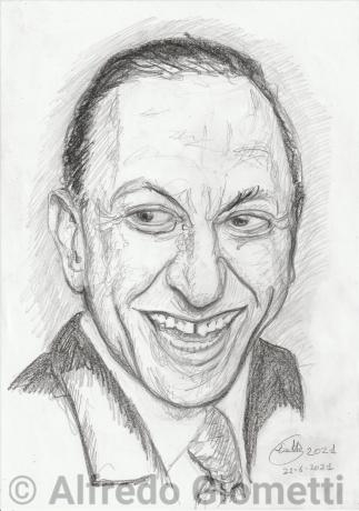 Renato Carosone portrait ritratto portrait