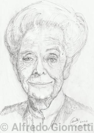 Rita Levi Montalcini ritratto portrait