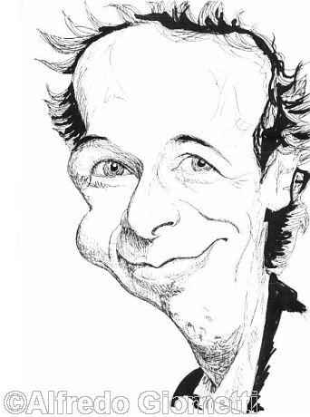 Roberto Benigni caricatura caricature portrait