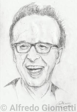 Roberto Benigni portrait ritratto portrait