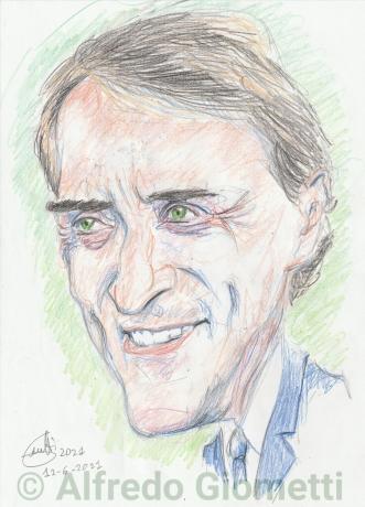 Roberto Mancini caricatura caricature