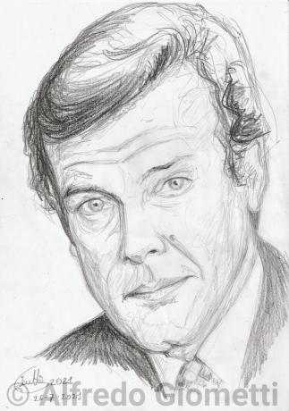 Roger Moore ritratto portrait