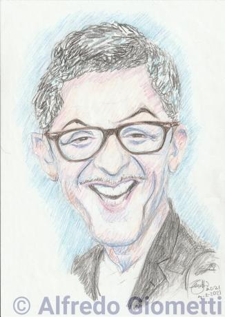 Fiorello caricatura caricature portrait