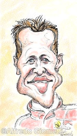 Michael Schumacher caricatura caricature portrait