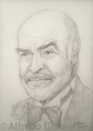 Sean Connery caricatura caricature portrait