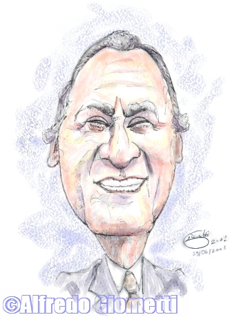 Alberto Sordi caricatura caricature portrait