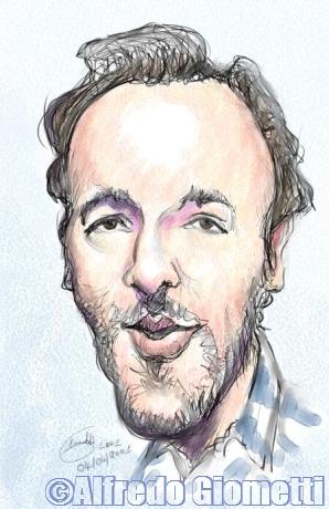 Bruce Springsteen caricatura caricature portrait