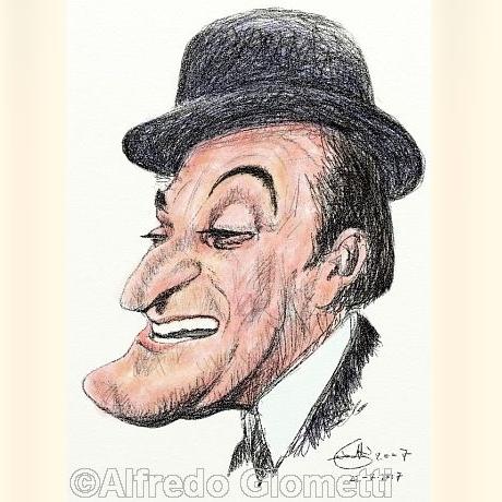 Caricatura di Totò caricatura caricature portrait - Principe Antonio de Curtis - clicca per ingrandire
