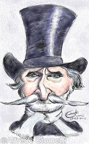 Giuseppe Verdi caricatura caricature portrait