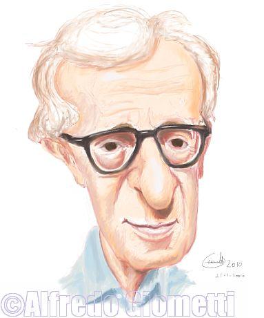 Woody Allen caricatura caricature portrait