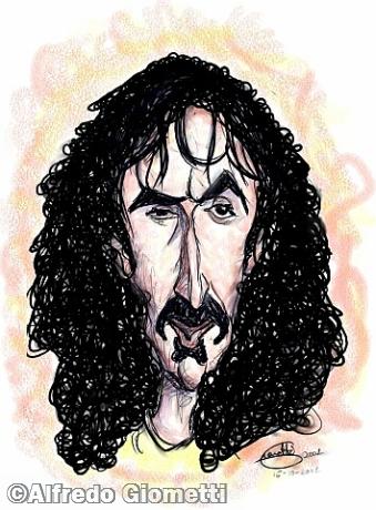 Frank Zappa caricatura caricature portrait